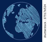 earth vector illustration | Shutterstock .eps vector #375176524