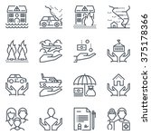 insurance  icon set suitable... | Shutterstock .eps vector #375178366