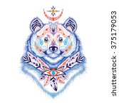 detailed himalayan bear in... | Shutterstock .eps vector #375179053