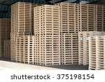 Lots Of Pallets Stacked And...