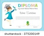 preschool kids diploma... | Shutterstock .eps vector #375200149
