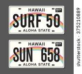 licenses plates typography ... | Shutterstock .eps vector #375210889