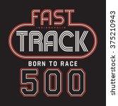 racing sport typography  t... | Shutterstock .eps vector #375210943