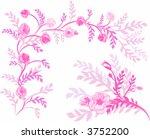 hand drawn wild rose... | Shutterstock .eps vector #3752200