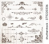 vintage frames and scroll... | Shutterstock .eps vector #375220336