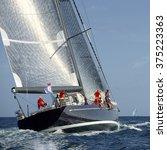 sailing yacht race.  sailing....   Shutterstock . vector #375223363