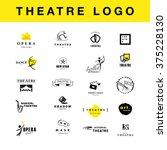 vector theatre and ballet... | Shutterstock .eps vector #375228130