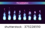 blue fire animation sprites ... | Shutterstock .eps vector #375228550