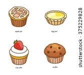 bakery vector icons | Shutterstock .eps vector #375229828