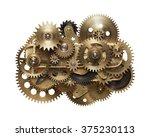 metal collage of clockwork...   Shutterstock . vector #375230113