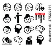 brain stroke icons   brain... | Shutterstock .eps vector #375231994