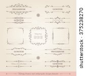 vintage frames and page... | Shutterstock .eps vector #375238270