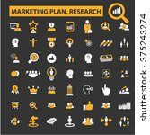 marketing plan  market research ... | Shutterstock .eps vector #375243274