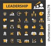 leadership  leader team ... | Shutterstock .eps vector #375246178