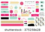 blog design set. vector... | Shutterstock .eps vector #375258628