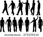 silhouette of a man. | Shutterstock .eps vector #375259210