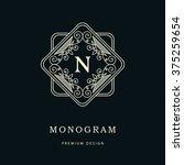 monogram design elements ... | Shutterstock .eps vector #375259654