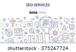 doodle concept of seo... | Shutterstock .eps vector #375267724
