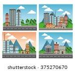 nature city design  | Shutterstock .eps vector #375270670