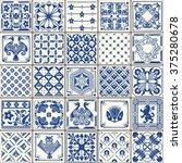 indigo portugal lisbon set... | Shutterstock .eps vector #375280678