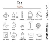 set of web icons for tea in the ... | Shutterstock .eps vector #375283774