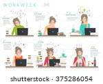 concept of workweek of office... | Shutterstock .eps vector #375286054