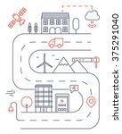 vector illustration of smart... | Shutterstock .eps vector #375291040