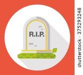 grave flat icon | Shutterstock .eps vector #375293248