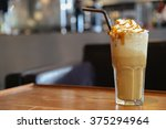 Caramel Frappe Coffee In The...