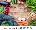 fresh and organic bio... | Shutterstock . vector #375297124