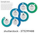 vector infographic colorful... | Shutterstock .eps vector #375299488