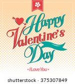 happy valentine day cards...   Shutterstock .eps vector #375307849
