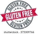 gluten free red round grunge...   Shutterstock .eps vector #375309766