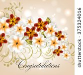 invitation or wedding card with ... | Shutterstock .eps vector #375324016