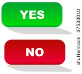 yes and no icon. vector... | Shutterstock .eps vector #37533010