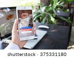 chiangmai thailand   feb 8 ... | Shutterstock . vector #375331180