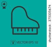 piano vector icon. simple... | Shutterstock .eps vector #375335674