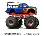 Vector Cartoon Monster Truck...
