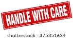 handle with care red square... | Shutterstock .eps vector #375351634