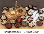 chinese medicine ingredients... | Shutterstock . vector #375352234