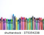 Crayons And Pastels Lined Up...