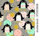 cute kids polka dot and animal... | Shutterstock . vector #375355858