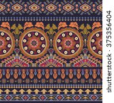 boho folk navajo frames. tribal ... | Shutterstock .eps vector #375356404