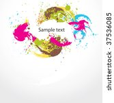 abstract colorful  grunge... | Shutterstock .eps vector #37536085