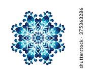 blue ukrainian painting style... | Shutterstock .eps vector #375363286