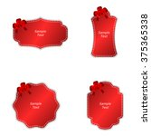 a set of four tags with red... | Shutterstock .eps vector #375365338