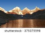 sunrise on the peruvian... | Shutterstock . vector #375375598