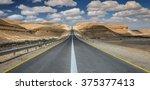 Asphalt Road In Desert Of The...