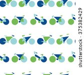 seamless pattern with bikes in... | Shutterstock .eps vector #375382429