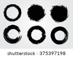 set of round grunge shapes... | Shutterstock .eps vector #375397198